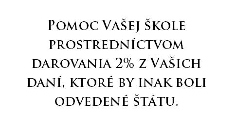 2% z dane pre SŠŠTN - 2021